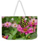 Butterfly On A Flower Weekender Tote Bag