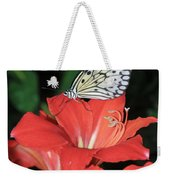 Butterfly On A Lily Weekender Tote Bag