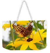 Butterfly On Blackeyed Susan Weekender Tote Bag