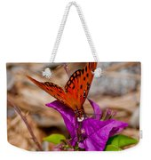 Butterfly On Bouganvilla Weekender Tote Bag