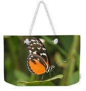 Butterfly On Leaf Weekender Tote Bag