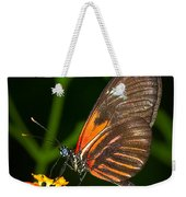 Butterfly On Orange Bloom Weekender Tote Bag