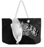 Butterfly On Peace Lilly Weekender Tote Bag