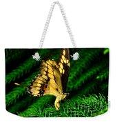 Butterfly On Pine Weekender Tote Bag
