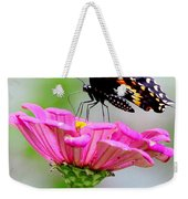 Butterfly On Pink Flower Weekender Tote Bag