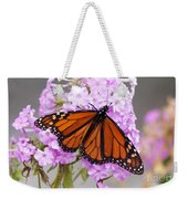 Butterfly On Pink Phlox Weekender Tote Bag