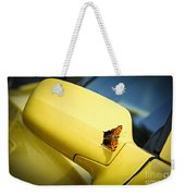 Butterfly On Sports Car Mirror Weekender Tote Bag by Elena Elisseeva