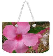 butterfly on the Mandevilla Weekender Tote Bag