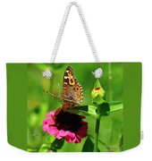 Butterfly On Zinnia Flower 2 Weekender Tote Bag