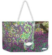 Butterfly Park Garden Painted Green Theme Weekender Tote Bag