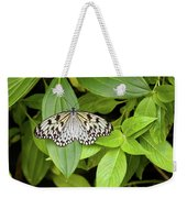 Butterfly Perching On Leaf In A Garden Weekender Tote Bag