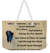 Butterfly Poem Weekender Tote Bag