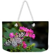 Butterfly Pollinating Flower Weekender Tote Bag