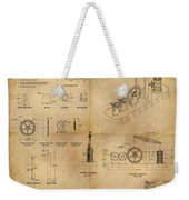 Butterfly Pump Weekender Tote Bag by James Christopher Hill