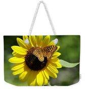 Butterfly Sunflower Weekender Tote Bag