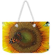 Butterfly Sunflower Weekender Tote Bag