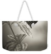 Butterfly Warm Black And White Weekender Tote Bag