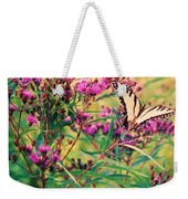 Butterfly Wildflower Weekender Tote Bag