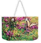 Butterfly Wildflower Weekender Tote Bag