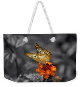 Butterfly Wings Of Sun Light Selective Coloring Black And White Digital Art Weekender Tote Bag