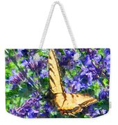 Butterfly With Purple Flowers 3 Weekender Tote Bag