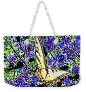 Butterfly With Purple Flowers Weekender Tote Bag