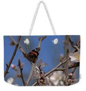 Butterfy In Almond Blossoms   #9289 Weekender Tote Bag