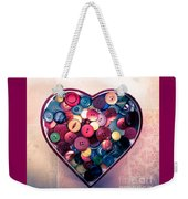 Button Love Weekender Tote Bag