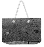 Buttons On The Concrete Weekender Tote Bag