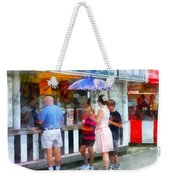 Buying Ice Cream At The Fair Weekender Tote Bag