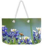 Buzzing The Bluebonnets 02 Weekender Tote Bag
