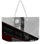Bw Big Ben And Red London Bus Weekender Tote Bag