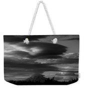 Bw Clouds Over Mt Adams Weekender Tote Bag