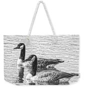 Bw Hdr Geese On The Pond I Weekender Tote Bag