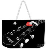 Bw Head Stock With Red Pick  Weekender Tote Bag