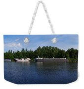 By A Canal Panorama Weekender Tote Bag