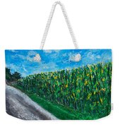 By An Indiana Cornfield The Road Home Weekender Tote Bag