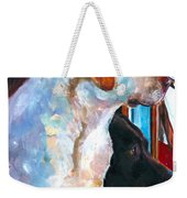 By My Side Weekender Tote Bag by Molly Poole