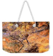 By The Bank Of The Golden Forest Weekender Tote Bag