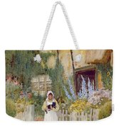 By The Cottage Gate  Weekender Tote Bag