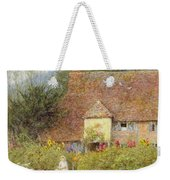 By The Cottage Gate Wc On Paper Weekender Tote Bag