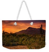 By The Light Of The Sunset Weekender Tote Bag