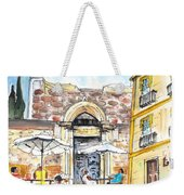 By The Old Cathedral In Cartagena 01 Weekender Tote Bag