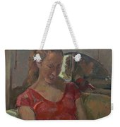 By The Old Mirror, 2009 Oil On Canvas Weekender Tote Bag