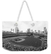 By The Right Field Foul Pole Bw Weekender Tote Bag