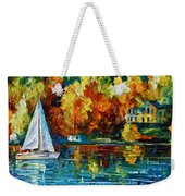 By The Rivershore Weekender Tote Bag by Leonid Afremov