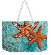 By The Sea Shore Original Coastal Painting Colorful Starfish Art By Megan Duncanson Weekender Tote Bag