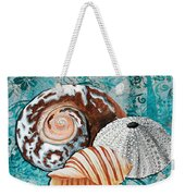 By The Seaside Original Coastal Painting Colorful Urchin And Seashell Art By Megan Duncanson Weekender Tote Bag