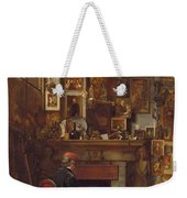 By The Studio Fire, 1860 Weekender Tote Bag by John Dawson Watson