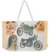 Bykes And Byrds 1 Weekender Tote Bag